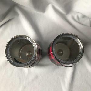 Reduce Dining - Set of 2 Metal Plaid Wine Tumblers